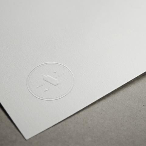 av letterhead blind emboss